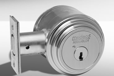 Medeko Residential deabolt installation by Vaughan master locksmith